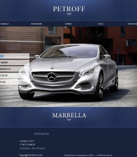 Бізнес сайт – Petroff. Трансфер і бізнес візити.