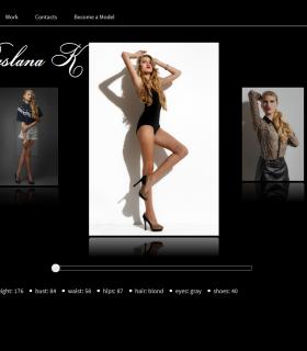 Сайт модельного агентства — Maxi-models