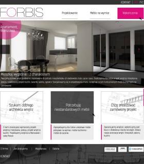 «Forbis» — сайт компании. Дизайн интерьеров