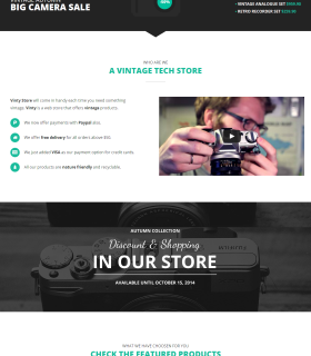«Vinty» — лендинг-магазин фотокамер