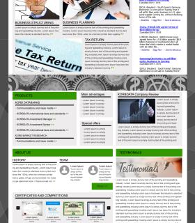 «Korolano Business» — сайт для компании бизнес услуг