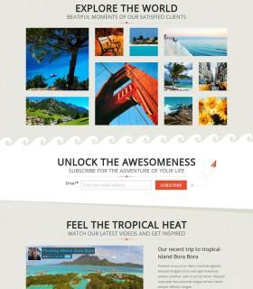 «Adventour» — лендінг для туристичної фірми