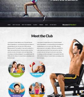 Aegon — корпоративный сайт фитнес клуба